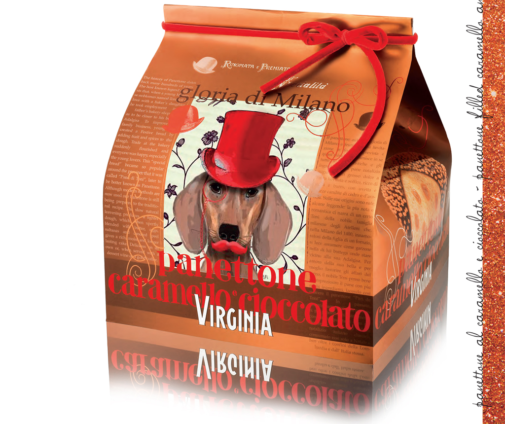 PANETTONE FILLED WITH CHOCOLATE AND CARAMEL 850g